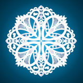 Beautiful detailed snowflake — Stock Vector