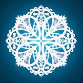 Beautiful detailed snowflake — Stock Vector
