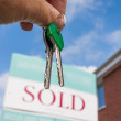 Keys to a New House — Stock Photo