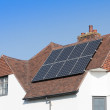 Solar Panels on an Older House — Stock Photo