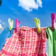Colourful Washing line — Stock Photo