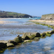 Porth Beach, Cornwall, UK. — Stock Photo