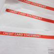 Credit Card Statements — Stock Photo