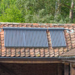 Stock Photo: Solar Water Heating Panels
