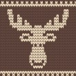 Stok Vektör: Brown knitted deer sweater