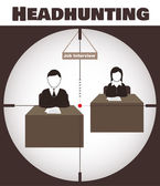 Headhunting — Stock Vector