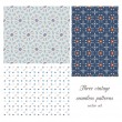 Vintage seamless patterns - Stock Vector