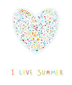 I love summer! — Stock Vector