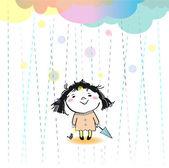 It's rain today — Stock Vector