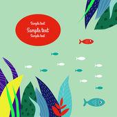 Underwater world. — Stock Vector