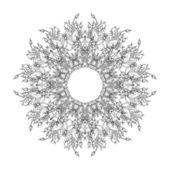 Blommig inredning — Stockvektor