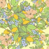 λουλουδάτο μοτίβο άνευ ραφής — Διανυσματικό Αρχείο