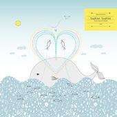 Fish love — Stock Vector