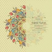 Floral decor — Stock Vector