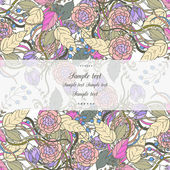 Floral decor — Vector de stock