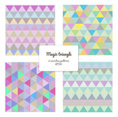 Multicolor triangles — Stock Vector