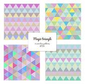 Multicolor triangles — Stock Vector