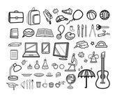 Modern school icon set — Stock Vector