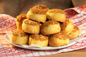 Traditonal hungarian cheese cakes - pogácsa — Stock Photo