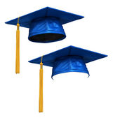 3D render of blue graduation cap — Stock Photo