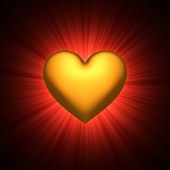 σύμβολο χρυσό καρδιά — Φωτογραφία Αρχείου