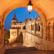 North gate of the Fisherman's Bastion in Budapest — Stock Photo #31311173