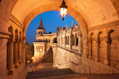 North gate of the Fisherman's Bastion in Budapest — 图库照片