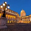 The Buda Castle in Budapest with a streetlight — Stock Photo #32249569
