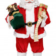 Santa Claus doll with presents and name list frontal view — Stock Photo #36943551