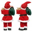 Stock Photo: Little funny SantClaus doll from two aspects back view