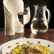 Stock Photo: Still life with gourmet food and wine