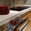 Stock Photo: Modern kitchen with dishwasher