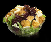 Caesar salad with chicken and lettuce — Stock Photo
