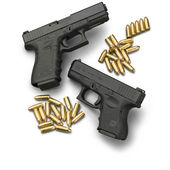 Guns and ammo — Stock Photo
