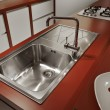 Stock Photo: Modern kitchen sink