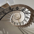 Stock Photo: Upside view of spiral staircase