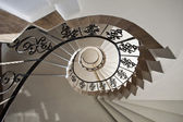 Upside view of a spiral staircase — 图库照片