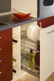 Detail of a kitchen with an open drawer — Stock Photo