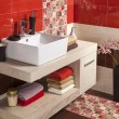 Stock Photo: Interior of modern bathroom with sink and toilet
