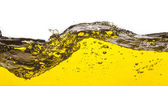 An abstract image of spilled oil . On a white background. — Stock Photo