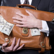 Keeping the Cash Close — Stock Photo