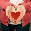 Hand Holding Heart — Stock Photo