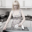 Old Time Ironing! — Stock Photo