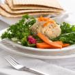 Traditional Jewish passover  Gefilte Fish — Stock Photo