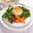 Traditional Jewish passover  Gefilte Fish — Foto Stock
