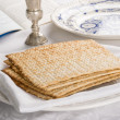 Closeup of Matzah on Plate — Stock Photo