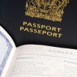 Canadian Passport — Stock Photo