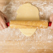 Rolling the Dough — Stock Photo