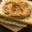 Peanut Butter on Crackers — Stock Photo