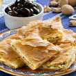 OPA! Spanakopita - Greek Spinach Pie — Stock Photo